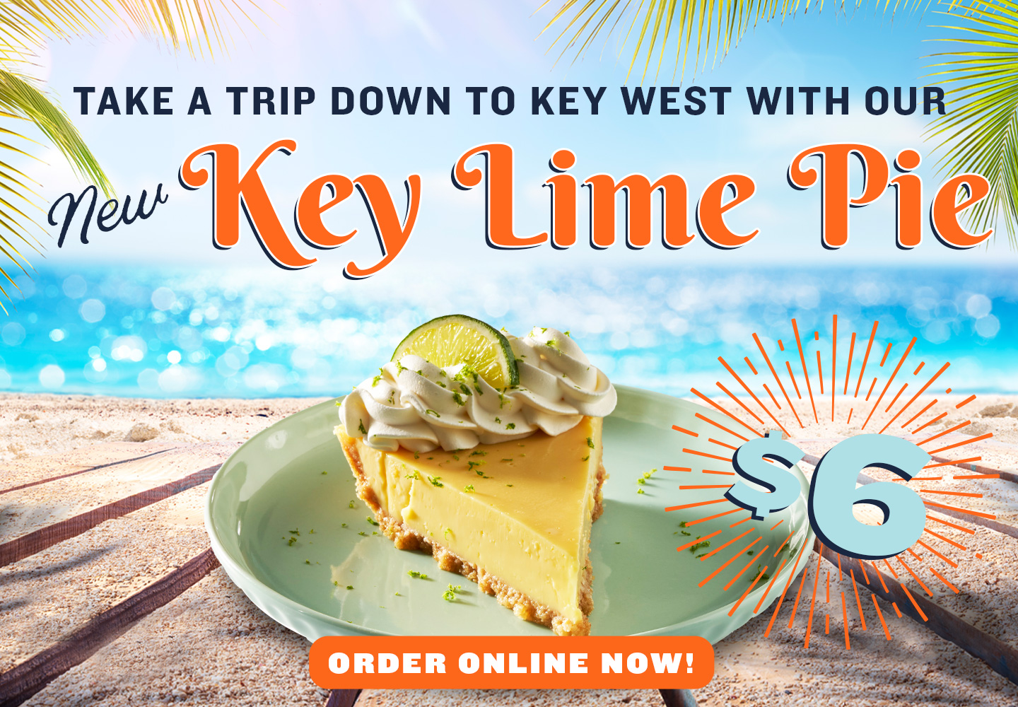 Take a trip down to Key West with our New Key Lime Pie