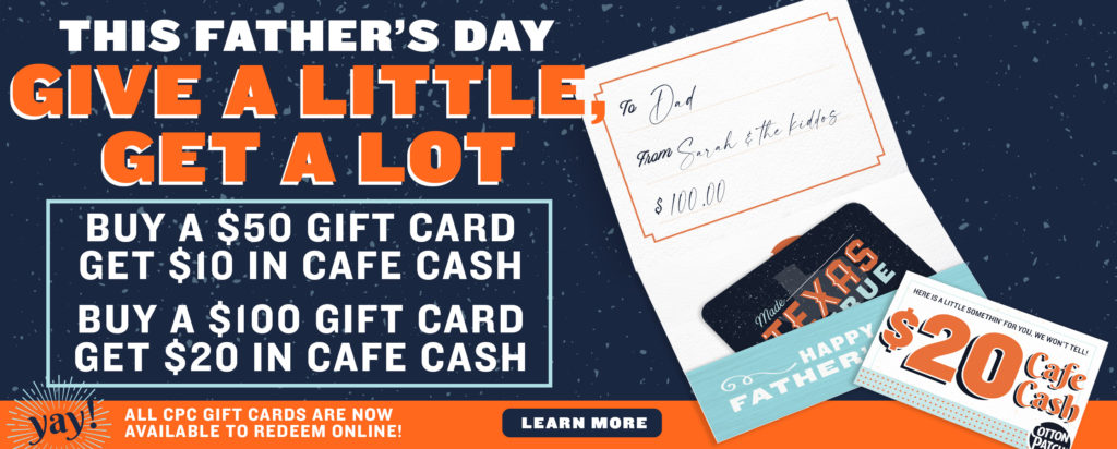 This Father's Day! Give a little, get a lot!
