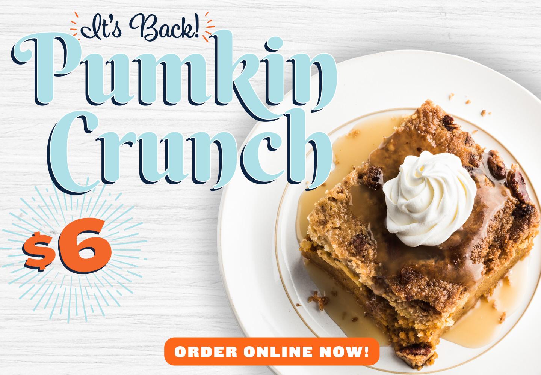 Pumpkin Crunch is back!